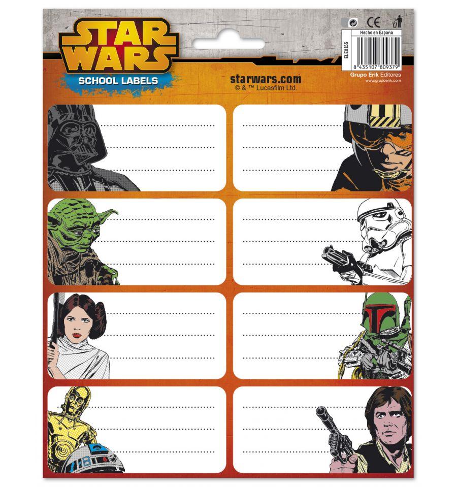 Célèbre Etiquettes scolaires Star Wars - Rentrée des classes SN26