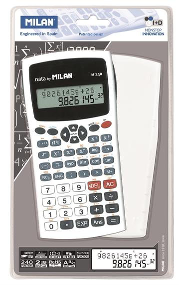 Calculatrice scientifique Milan 240 fonctions