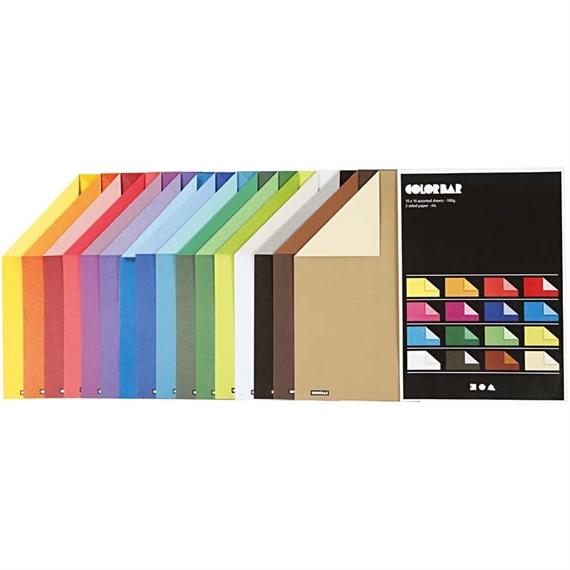 Pqt de 160 flles papier àdessin 2 couleurs recto-verso 100gm2