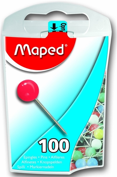 Maped Epingles de signalisation, taille 5,couleurs assorties