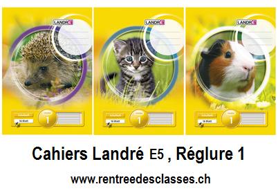 Cahier Landré E5 - 16f.  linéature 1 / ligné