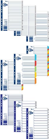 Réperoire neutre en carton couleur A4 Office Index