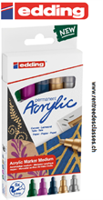 Set de 5 marqueurs Edding acrylique 5100 E-5 metallic