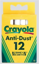 Bte de 12 craies Crayola anti-dust