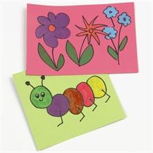 Pqt de 290 flles Papier Creatif, A4 21x30 cm couleurs assorties