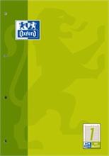 Oxford Bloc pour travail, A4, 50 feuilles, linéature 3