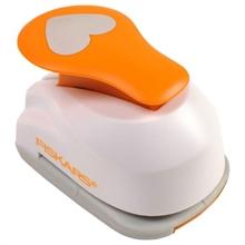 "FISKARS Perforatrice à levier M ""coeurs"", blanc / orange"