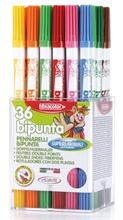 Box de 36 feutres Fibracolor Bipunta double pointe