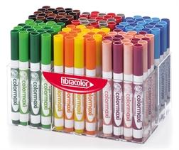 Pack Ecole de 120 feutres Fibracolor ColorMaxi pointe large