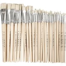 Pack de 68 pinceaux Nature Lines, manches courts, bouts plats