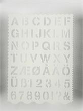 Pochoirs lettres et chiffres