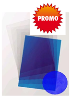 Plats de couverture A4 en PVC transparents bleu