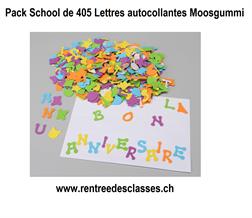 Pqt de 405 Moosgummi Lettres autocollantes