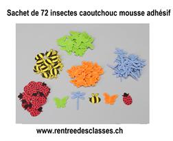 Pqt de 72 Insectes Moosgummi autocollants
