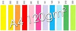 Pqt de 250 flles de papier photocopie couleur  A4 - 120 g/m²