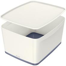 LEITZ Boîte de rangement My Box, 18 litres, blanc/gris