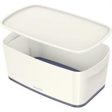 LEITZ Boîte de rangement My Box, 5 litres, blanc/gris