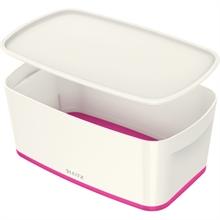 LEITZ Boîte de rangement My Box, 5 litres, blanc/rose