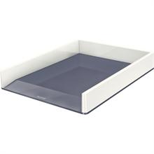 LEITZ Corbeille de courrier WOW Duo Colour, format A4, blanc
