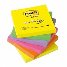 Pqt de 6 Post-it 76x76mm Z couleurs néon