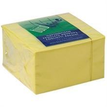 Feuillets adhésifs - cube 75x75mm - jaune