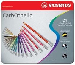 STABILO Crayon pastel CarbOthello, étui métallique de 24