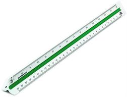 Echelles de réduction triangulaires - RUMOLD - blanc 30cm