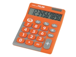 Calculatrice Milan 10 chiffres duo orange