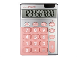 Calculatrice Milan 10 chiffres Silver rose