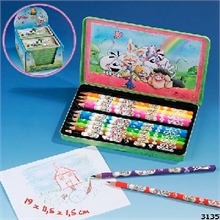 Bte de 12 crayons Diddl