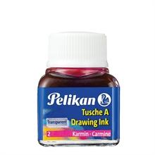 Pelikan Encre de chine A, contenu: 10 ml dans flacon, rouge