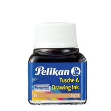 Pelikan Encre de chine A, contenu: 10 ml dans flacon, Sépia