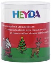 Kit de 15 tampons àmotifs Noël