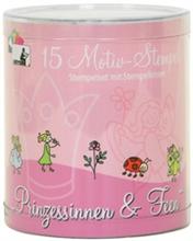 """Kit de 15 tampons àmotifs """"princesses et fées"""""""