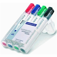 Etui de 4 markers Whiteboard Lumolocor