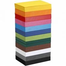 Pqt de 1200 flles papier cartonné coloré A6 105x148 mm, 180gm2