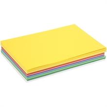 Pqt de 300 flles papier cartonné printemps A4  180gm2 ass.