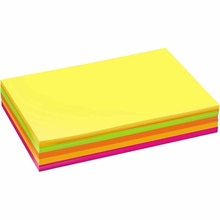 Pqt de 300 flles cartes Colortime fluo A4  180gm2 , ass.