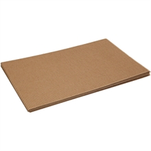 Pqt de 10 cartons ondulés 25x35 cm, 120 gr.