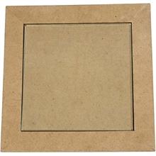 Sous-plat centre en verre, dim. 15x15 cm, 6 pièces