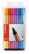 Etui en plastique de 20 stylos fibres STABILO - PEN 68