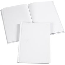 Carnet de notes A5 15x21 cm, 60 pages vierges, blanc