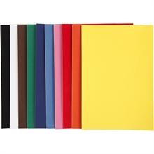 Pqt de 50 flles de papier velours A4 21x30 cm 140 gr ass.