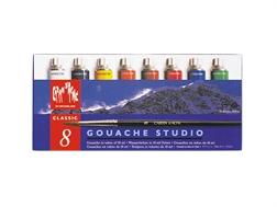 Bte de 8 tubes gouache Caran d'Ache Studio