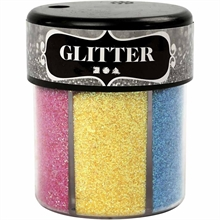 Paillettes - Assortiment, Couleurs assorties, 6x13gr