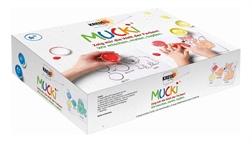 "Gouaches aux doigts ""MUCKI"", kit 5 x 50 ml"