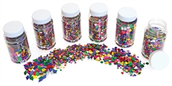 Paillettes - Assortiment, Couleurs assorties, 6x100ml