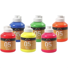Set de  6 flacons de 500ml Acryl A-Color Néon