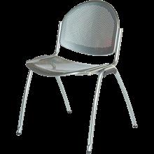 Chaise ESTELLE assise et dos en métal perforés