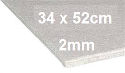 Carton gris 34/52cm à la pièce